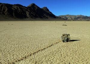 Death Valley Sailing Rocks