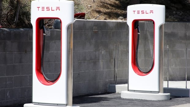 A Tesla charging station in California. Tesla has made a deal with a state-owned Chinese phone carrier to build 400 new charging stations in China.