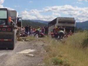 Coquihalla Super Vacation tour bus crash - Aug. 28, 2014