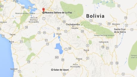Boliva bus crash map