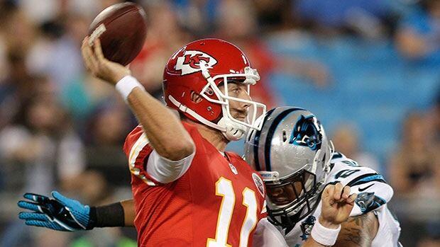 Kansas City quarterback Alex Smith, who is due to make $7.5 million US this season, will receive $45 million in guarantees.