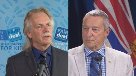 Jim Iker, BCTF president, and Peter Fassbender, education minister - Aug. 31, 2014