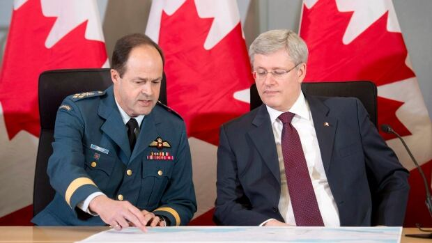 Canada's Chief of Defence Staff Tom Lawson and Prime Minister Stephen Harper announced the deployment of six CF-18 fighter jets to the eastern Europe last spring. But Canada's tangible contributions to NATO have lagged behind some of its allies.