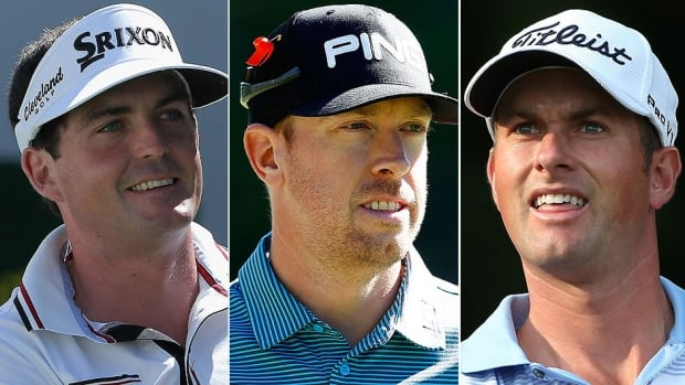 From left, Keegan Bradley, Hunter Mahan and Webb Simpson have been selected as wild cards by captain Tom Watson to round out the U.S. roster for the upcoming Ryder Cup. The matches against Europe are Sept. 26-28 in Scotland.