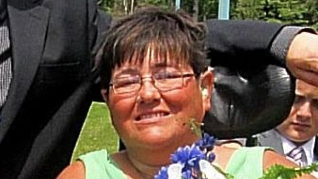 """Tracy Hurlbert says she feels like a """"first class patient"""" now that their is a power door leading into the Thunder Bay hospital's courtyard garden."""