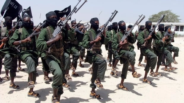 Newly trained al-Shabab fighters perform military exercises in the Lafofe area south of Mogadishu, Somalia. The country is offering them amnesty for a limited time.