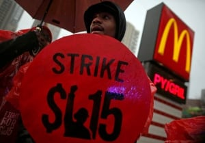Fast-food minimum wage strikes