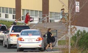 St. Peter's school dropoff