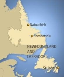 Map Sheshatshiu