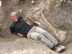 Tibia of Dreadnoughtus Kenneth Lacovara