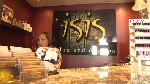 Lori Pawson the owner of the Isis Salon and Day Spa in Regina says she won't  change the name of her business.