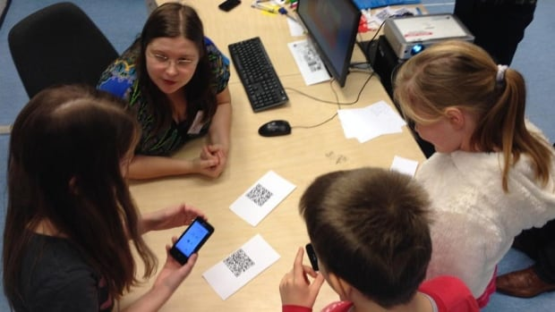 Students in Estonia use new forms of technology, including hand-held devices, as part of their education.