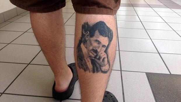 A portion of Burlington Street will be renamed Nikola Tesla Boulevard in July. Here, the great inventor is shown in the form of a tattoo on east Hamilton resident Nikola Vulajic.