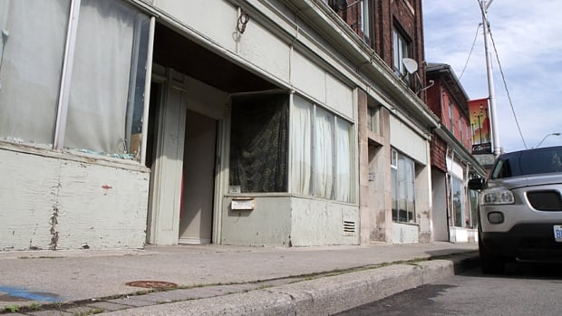 Former storefronts have been illegally converted to residences along Barton Street. The city is trying to revive the area with a commercial corridors study of Barton and Kenilworth.