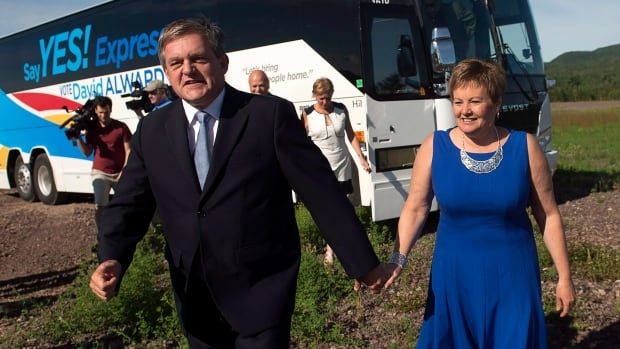 """Progressive Conservative Leader David Alward has tried to turn the election into a referendum on his plan for shale gas development, even labelling his campaign bus the """"Say Yes Express."""""""