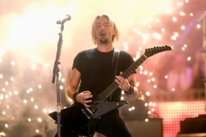 Chad Kroeger performs with Nickelback