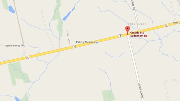 The incident took place in the area of Highway 5 and Sydenham Road, near Skydive Swoop, a skydiving club.