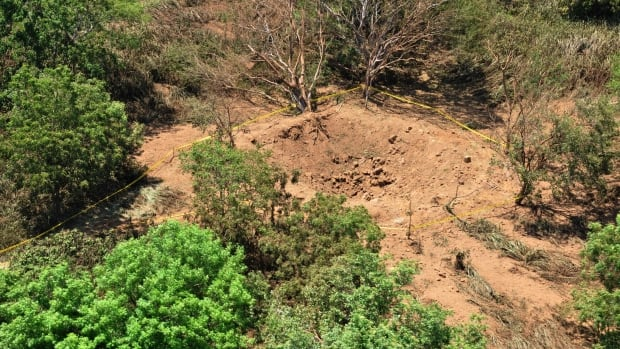 The meteorite left an impact crater 24 metres wide and 5 metres deep in a wooded area near Managua's international airport and an air force base.