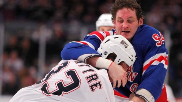 Derek Boogaard (94) was found dead on May 13, 2011, at his apartment in Minneapolis, following an accidental overdose of prescription painkillers and alcohol.