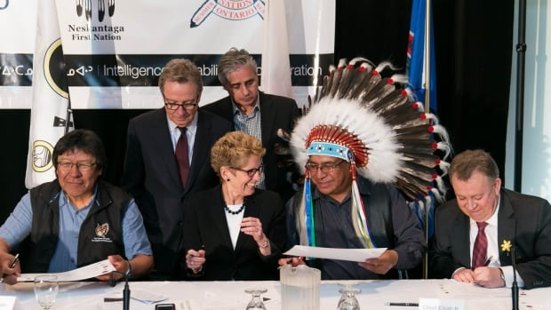 Just months after this happy scene at the signing of the Framework Agreement for Negotiations in the Ring of Fire between Ontario and Matawa First Nations Chiefs, some First Nations leaders say the agreement is being ignored by the province.