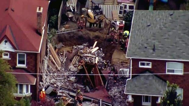 Toronto house collapse RAW