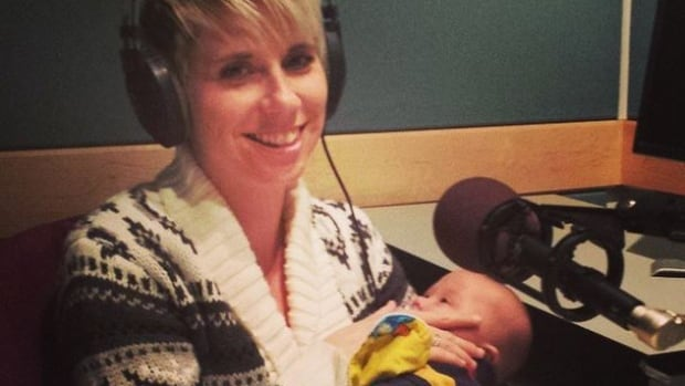 Alex Dudley posted this photograph of her with Jaxson, her infant son, during a CBC Radio interview this week.