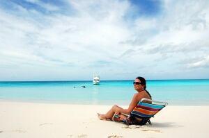 Sunbather Cape Santa Maria Beach Bahamas