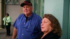 Natasha Montgomery's family members outside court - Sept. 11, 2014