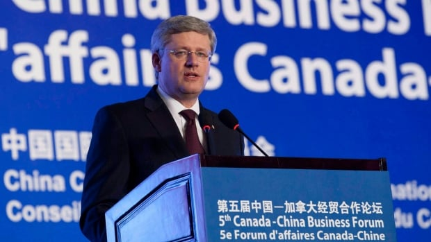 Prime Minister Stephen Harper, seen speaking to a business group in Beijing in 2012, will be back in China in November.