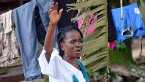 Ebola death mourner