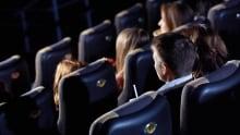 People watching movies