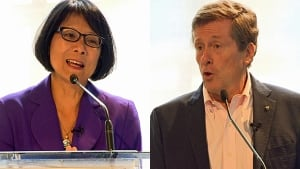 Olivia Chow and John Tory (composite image)