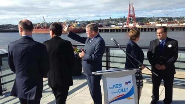 Progressive Conservative Leader David Alward campaigned in Saint John last week. He said ports will be key to shipping New Brunswick's resources around the globe.