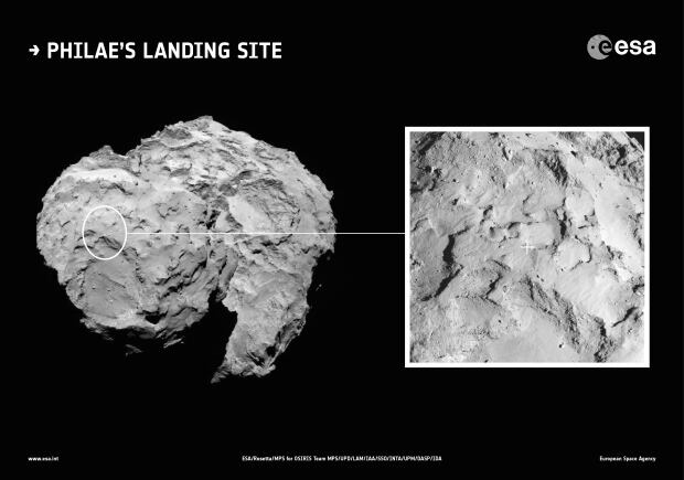 Rosetta landing site Comet 67P/Churyumov–Gerasimenko