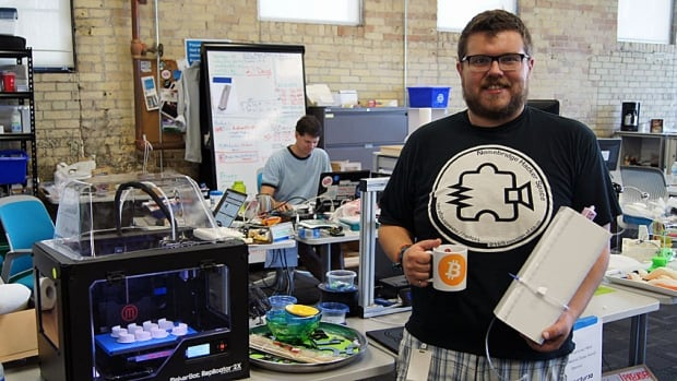 Andrew Finkle, the co-founder and director of research and development at Structur3d Printing in Waterloo, says he accepts about 75 per cent of his take-home income in bitcoin.
