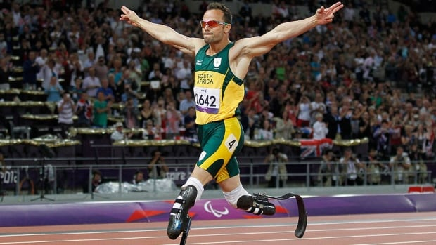 Oscar Pistorius, seen here at the 2012 London Paralympics, is free to compete for South Africa again while he awaits sentencing next month after being found guilty in the negligent killing of his girlfriend, Reeva Steenkamp.