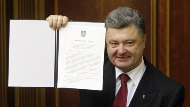 Ukraine's parliament on Tuesday ratified a landmark agreement on political association and trade with the European Union on Tuesday.