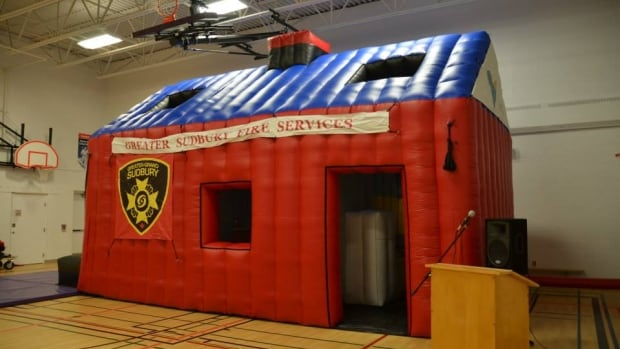 Inflatable Home Teaches Sudbury Students Fire Safety