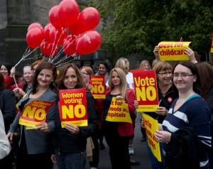 Scotland referendum No supporters