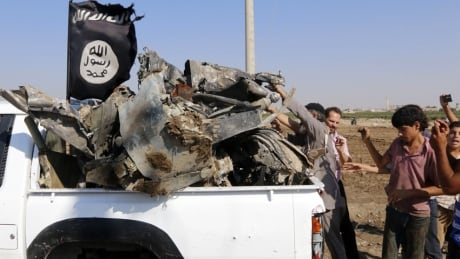 Islamic State fighters in Syria