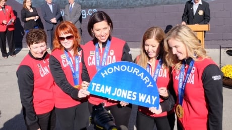 Jennifer Jones sheds tear at honourary street naming, mural unveiling