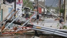 Mexico - Hurricane Odile power lines down