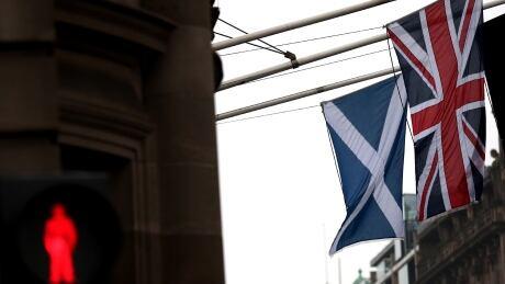 Scotland referendum flags