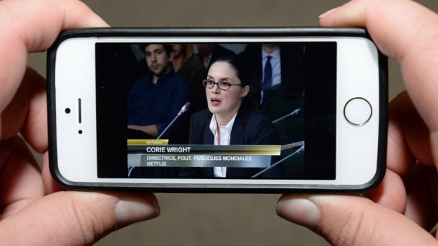 Netflix global public policy director Corie Wright testified before the CRTC 10 days ago, but refused to back up some claims with figures.