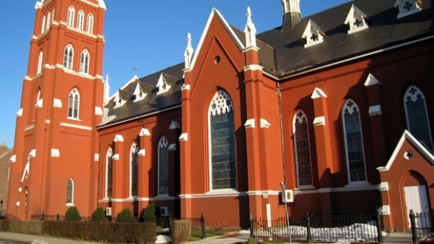 A man has been arrested after wreaking havoc inside St. Mary's church in downtown Hamilton over the weekend, police say.