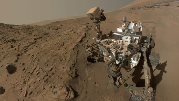 The Curiosity Mars rover, seen in this June 2014 photo from NASA, recently arrived at a spot dubbed 'Winnipeg' in a rocky area on Mars known as the Murray formation.