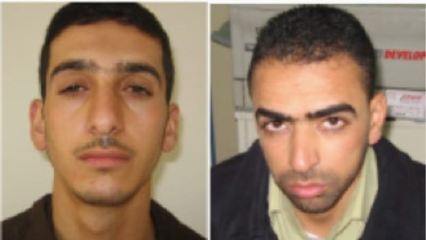 Shin Bet, Israel's security service, identified Marwan Qawasmeh, left, and Amer Abu Aisheh as central suspects in the recent disappearance of three Israeli teenagers in June.