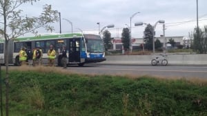 Bus bicycle collision