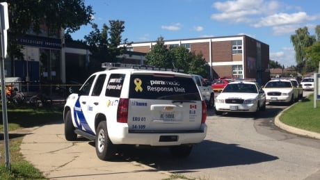 Paramedics on scene at North Albion Collegiate