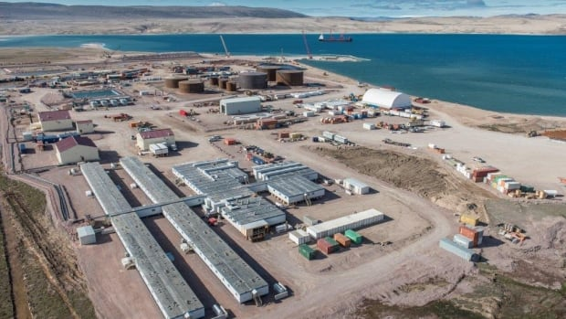 A view of Baffinland Iron Mine's camp at Milne Inlet in Nunavut in August 2014.
